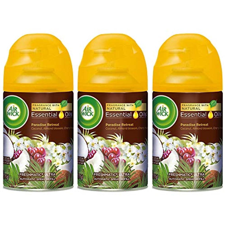 Air Wick Freshmatic Refill Automatic Spray, Paradise Retreat, 6.17 oz, Air Freshener (Pack of 3)