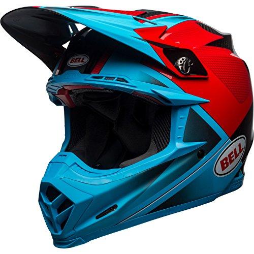 BELL 7103927 Moto-9 Flex Hound - Casco de motocross (talla S), color rojo, blanco y negro mate