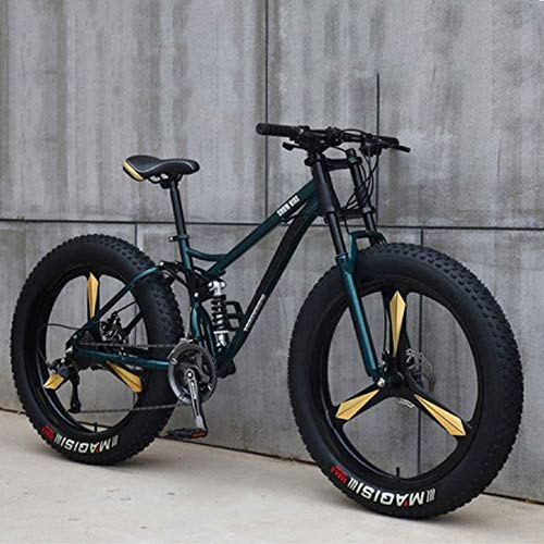 XRQ Fat Tire Mens Mountain Bike 21/24/27 velocità Sport Ciclismo Biciclette off Beach Road Mountain Bike per Adulti Super Wide Pneumatici Uomini E Donne in Bicicletta Studenti,Bronzo,21Speed