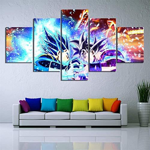 Surfilter 5 animado Goku Dragon Ball lienzo impreso cuadros de pared sala de estar decoración del hogar cartel de Dragon Ball Canvas-frame