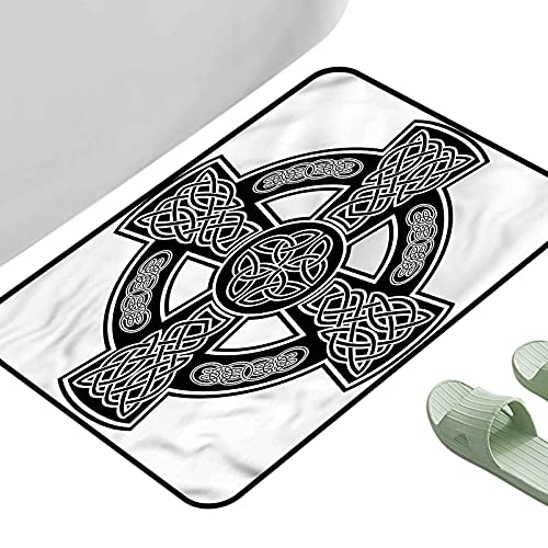Soft Area Children Baby Playmats Celtic Classic Form Linked Lines 31.5' x 19.5' Rectangle Kitchen Rugs Non Skid