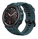 Amazfit T-Rex Pro Smartwatch Orologio Intelligente GPS Integrato 10 ATM, Schermo AMOLED da 1,3', 100 Modalità di Allenamento, SpO2, Monitor del Sonno per Sport, Uomo, Donna, Blu
