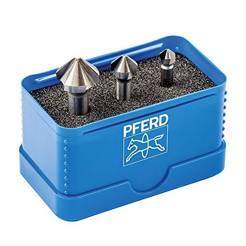 PFERD HSS Kegel-/Entgratsenker-Set, 3-tlg. | 90°, Ø 6,3-16,5 mm, DIN 335 C | 25202152 – zum Versenken von 90°-Schrauben