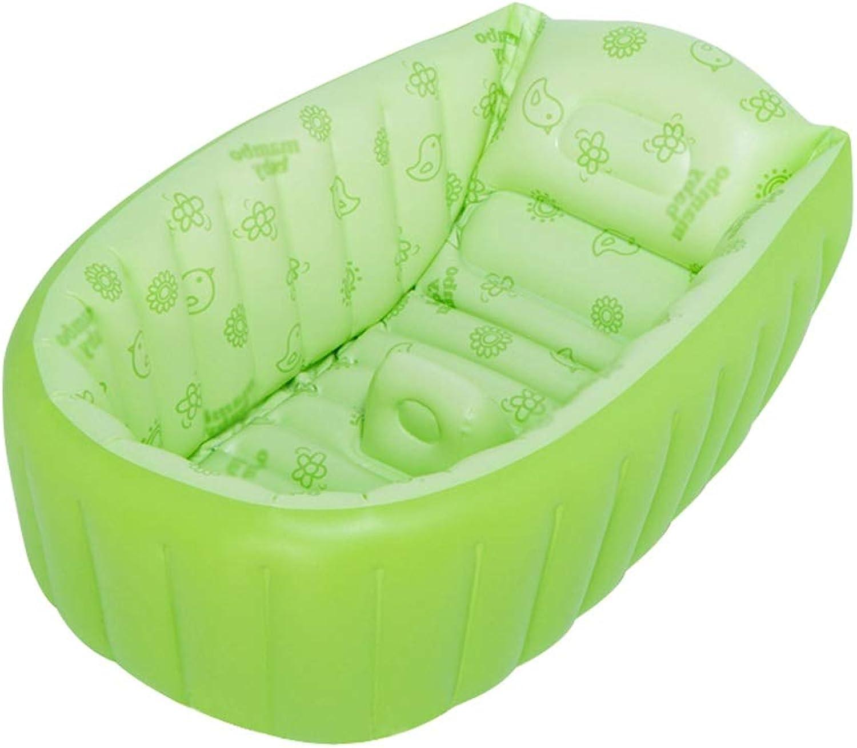 Aufblasbare Badewanne QIQIDEDIAN Baby Bath Neugeborenes Bad Groe Dicke Isolationsbadewanne Grün