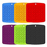 Bekith 6 Pack Silicone Trivet Mat Hot Pot Holder Driying Mat for Hot Dishes, Hot Pots and Hot Pan, Non Slip Heat Resistant Hot Pads for Tables, Countertop, Spoon Rest, Jar Opener