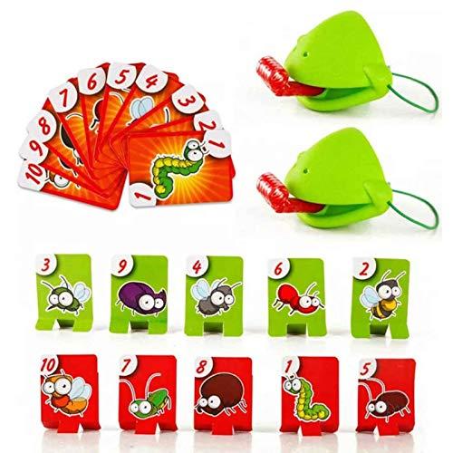 Funny Family Quick Tongue Game - Atletismo de escritorio interactivo Catch Bugs Game Frog Eating Mosquito Divertido juego de mesa, juguetes interactivos para fiestas familiares