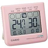 カシオ 温度・湿度計付き 生活環境お知らせ コンパクトサイズクロック PQL-10-4JH