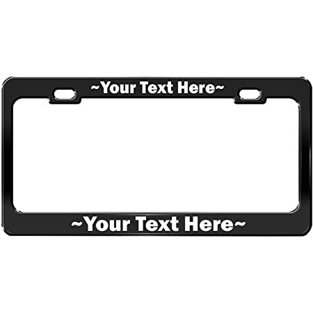 Tag Frame 12/×6inch CoolPAI Personalized Metal License Plate Frame Funny License Plate Frame