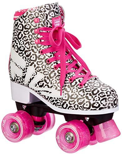 Fila Damen ANIMALIER Roller Skate, schwarz/weiß/pink, 40