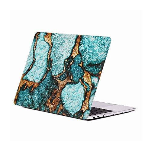 Oficial Monika Strigel Azul Piedras Preciosas Y Oro Carcasa Rígida Compatible con Macbook MacBook Pro 13' A1989 / A2159