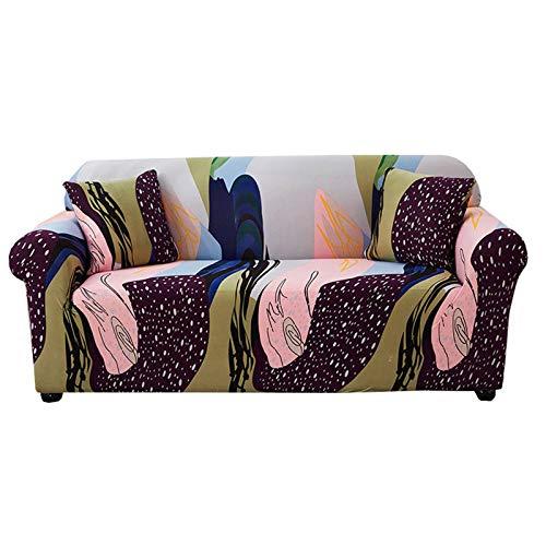 HALOUK Funda de Sofá Chaise Longue,Funda para Sofá Elástica Estampada 1/2/3/4 Plaza Antideslizante Universal Protector de Muebles para Sofá en Forma de L-F-Chair (90-140cm)
