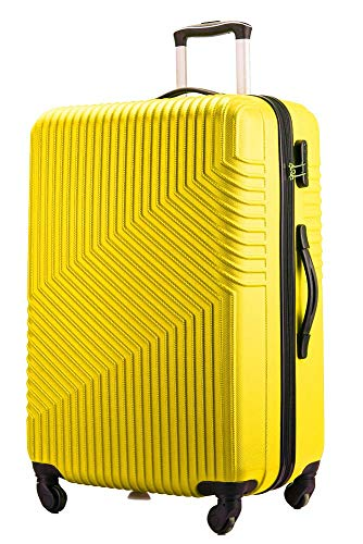Flymax 24' Medium Suitcase Lightweight Luggage 4 Wheel Spinner Travel Case Trolley ABS Hold Check in
