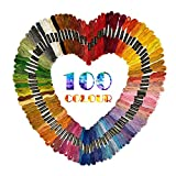 100 Verschiedenfarbige Stickgarn Sticktwist