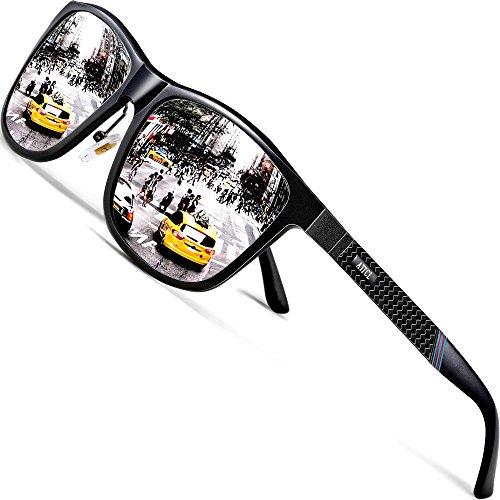 ATTCL Gafas De Sol Hombre Polarizadas Retro Estructura De metal Al-Mg 858-8 Silver