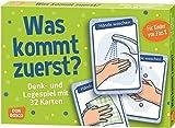 Was kommt zuerst?: Denk- und Legespiele mit 32 Karten für Kinder von 3 bis 8 (Denk- und Legespiele...