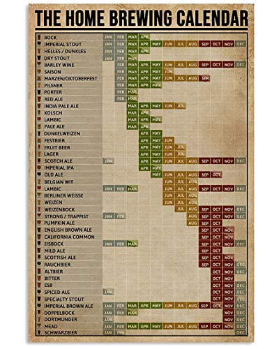 The Home Brewing Calendar Canvas