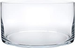 Royal Imports Flower Glass Vase Decorative Centerpiece for Home or Wedding Cylinder Shape, 4