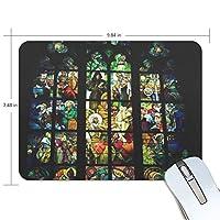マウスパッド プラハ聖ヴィート大聖堂 ステンドグラス絵画 ゲーミングマウスパッド 滑り止め 19 X 25 厚い 耐久性に優れ おしゃれ