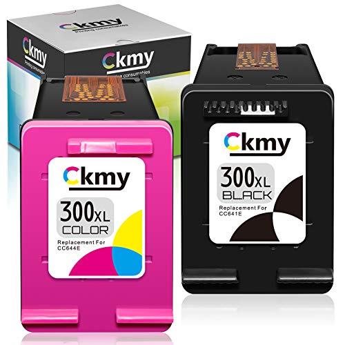 CKMY Remanufactured 300XL Druckerpatronen Ersatz für HP 300XL Tintenpatronen (1 Schwarz, 1 Farbe) für HP Envy 120 110 100 114 DeskJet F2480 F4500 F4580 F4272 F2420 F4280 PhotoSmart C4680