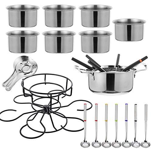 DOITOOL - 1 juego de utensilios de cocina de acero inoxidable para fondue de acero inoxidable multiusos