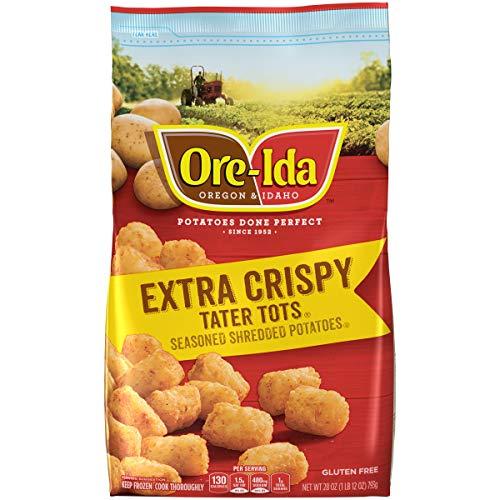 Ore-Ida Extra Crispy Frozen Tater Tots (28 oz Bag)