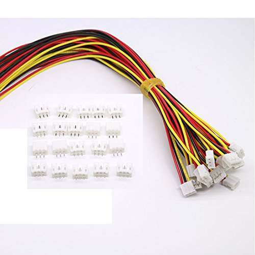 10 Sets Mini Micro JST 2.0 Ph 3 Pin-Stecker-Stecker männlich mit 150 mm Kabel & Female