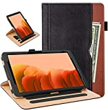 Grifobes Samsung Galaxy Tab A7 10.4 Case 2020 Tablet Leather Case, Full Protection Multi-Angle Viewing Folio Stand Cases with Pencil Holder for Samsung Tab A7 10.4 Inch SM-T500/T505/T507 (Black/Brown)
