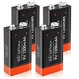 Girapow 9V Lithium Battery, 1200mAh Long Lasting Durable 9 Volt...