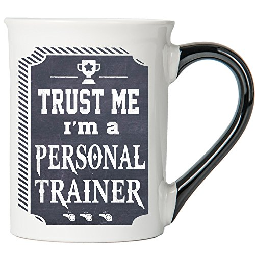 Cottage Creek Trainer Gifts Trust Me I'm A Personal Trainer Large 18 Ounce Ceramic Trainer Coffee Mug/Trainer Gifts [White]