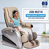 JSB MZ14 Zero Gravity Recliner Massage Chair for Home Stress Relief with Jade Stone Deep Muscle Relaxing Heating (Grey-Black)