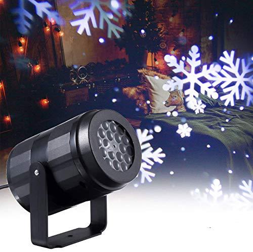 Lixada Luci Del Proiettore Di Natale A Fiocchi Di Neve In Movimento Lampada Da Paesaggio Decorazione Natalizia Per Esterni
