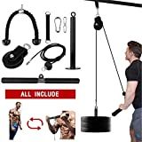 Elevtab Fitness LAT and Lift Pulley System, Cable Machine with Upgraded Loading Pin for Triceps Pull Down, Biceps Curl, Back, Forearm, Shoulder-Home Gym Equipment (Profession)