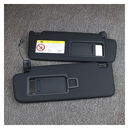 ZHANGXL XELIAN Panel de Visera Delantero Delantero Negro con el Espejo de Maquillaje Adecuado para VW Golf 7 Sportsvan Jetta MK7 T-Cross Passat B8 CC E-Golf T-ROC 213- (Color : Black Pair)