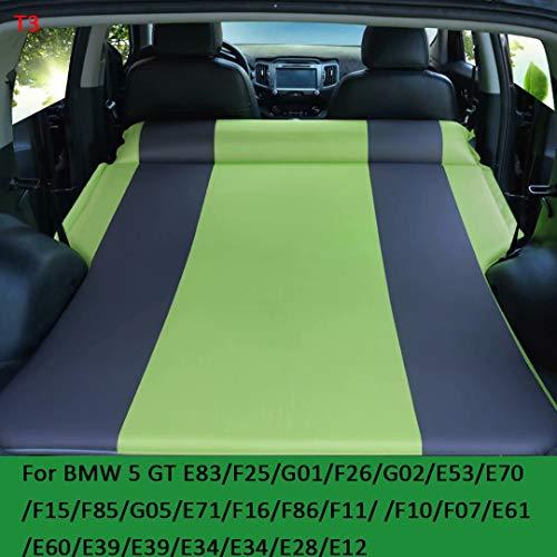 QCCQC Adatto per BMW Serie 5 GT X3 X4 X5 X6 Q7 Q5 Q3 Letto Gonfiabile per Auto Pieghevole SUV Bagagliaio Cuscino da Viaggio Materasso ad Aria Materasso, Verde + Grigio, T3