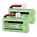 iMah BT184342/BT284342 BT18433/BT28433 Phone Battery Compatible with AT&T BT184342 BT18433 BT1011 BT1018 BT1022 BT1031 BT8300 CS6209 CS6219 CS6228 CS6229 Vtech DS6301 CL80109 CS6209 TL90078, Pack of 2