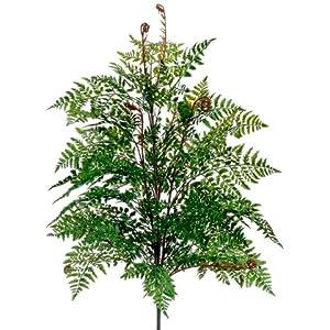 Silk Plants Direct Leather Fern Bush (Pack of 4)