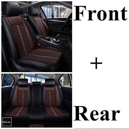 QQJK Sitzbezüge Auto Set Autositzbezüge Leder für Ford Focus 2 Fiesta Focus 3 Mondeo Mk4 Fokus Mk2 Fokus Fusion...