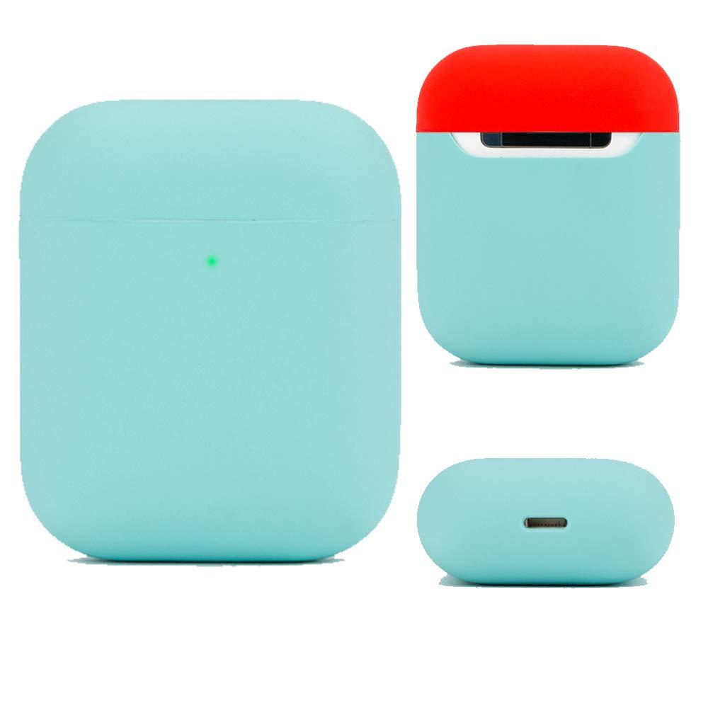 DamonLight Funda de Silicona para Auriculares Airpods Funda de Silicona para Auriculares inalámbricos Apple(Protección Completa) Azul Hielo: Amazon.es: Electrónica