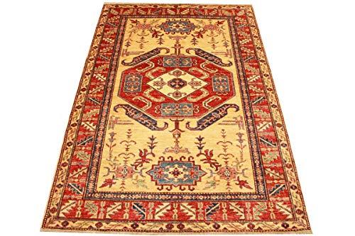 ETFA Kazak Teppich Orientteppich - 184x127 cm - Beige - LAGERVERKAUF