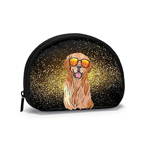 Gold Glitter Travel Shell Cosmetics Storage Bags Portable Toiletry Bags for Women Girl Small Coin Purse Bag Wallet Coin Bag