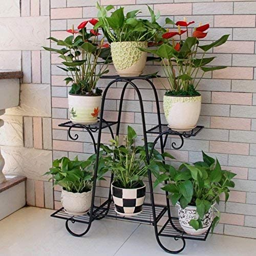 LXDZXY Plant Stands Iron-Art Flower Year-end annual Max 65% OFF account Rack 3-Tier Indoor A Balcony