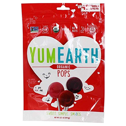 Yumearth Candy Fruit Pops Valentines 247 Gram