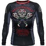 Rashguard Hardcore Training Revolvers-l MMA BJJ Fitness Grappling Camiseta de compresión
