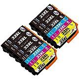 Kingway 33XL Cartucce di inchiostro Compatibili per Cartuccia Epson 33XL per Epson Expression Premium XP-900 XP-7100 XP-530 XP-630 XP-830 XP-540 XP-640 5 Nero 2 Ciano 2 Magenta 2 Giallo 2 Foto Nera