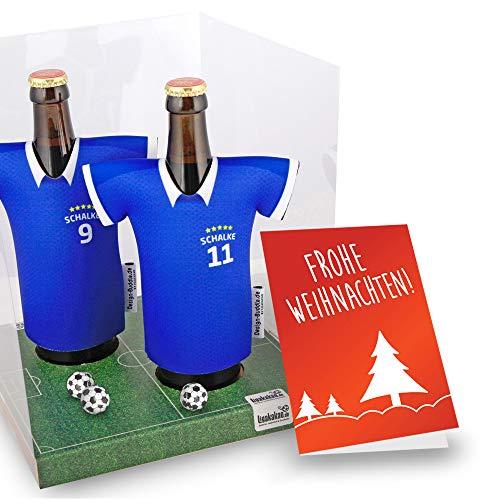 Weihnachts-Geschenk | Der Trikotkühler | Das Männergeschenk für Schalke-Fans | Langlebige Geschenkidee Ehe-Mann Freund Vater Geburtstag | Bier-Flaschenkühler by Ligakakao