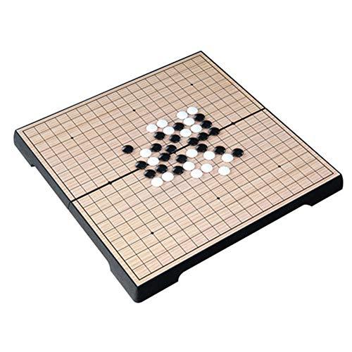 LHDDWY Houten Chinese Ga Schaken, Chinese Oude Board Games Checker, Draagbare klaptafel Magnetische Ga Schaken Set voor Jongen Kinderen