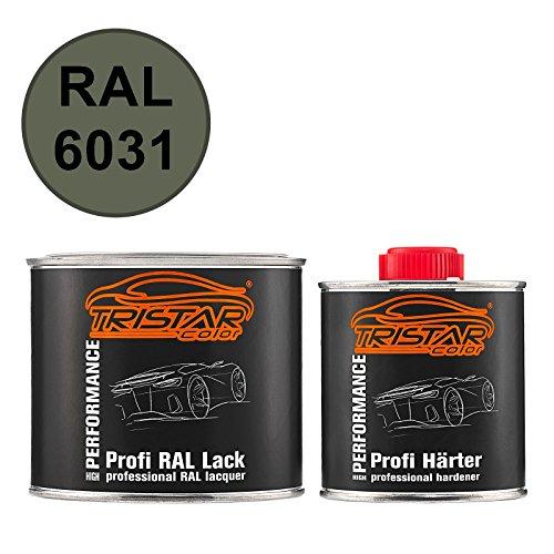 TRISTARcolor RAL 6031 Bronzegrün matt 2K Autolack 0,75 Liter / 750 ml Dose inkl. Härter