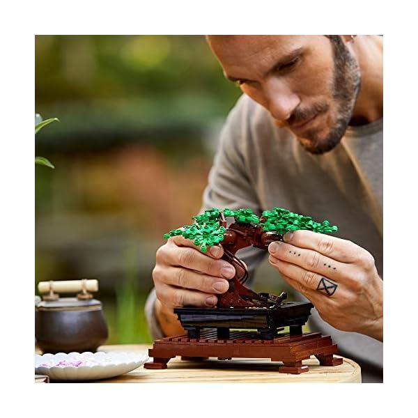 LEGO10281CreatorExpertBotanicalBonsái, SetdeConstrucciónManualidadesparaAdultos,ColecciónBotánica