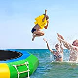 Amastore Inflatable Water Trampoline Water Bouncer for Adult Kids Summer Pool Lake Sea Water Sports Outdoor (6.5FT)