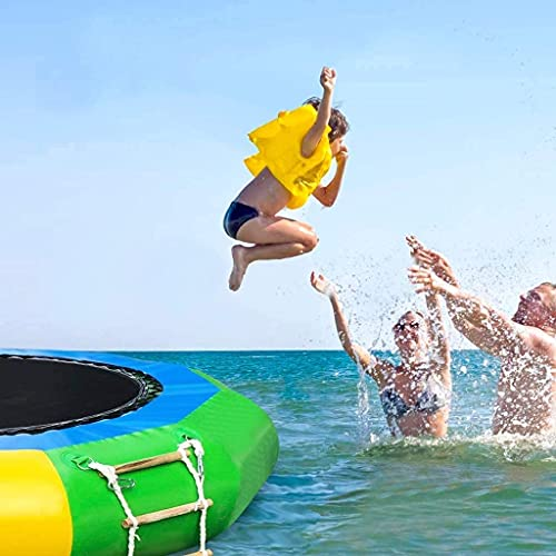 Amastore Inflatable Water Trampoline Water Bouncer for Adult Kids Summer Pool Lake Sea Water Sports Outdoor (10FT)